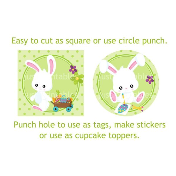 Easter bunny tags sample
