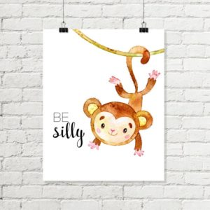 be silly monkey printable art
