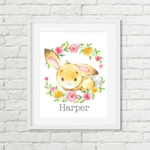 bunny name printable art