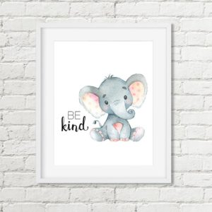 elephant be kind printable art