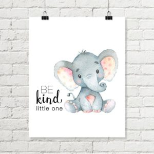 elephant be kind print