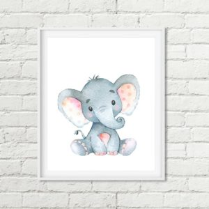 elephant printable art