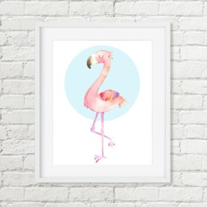 flamingo printable art