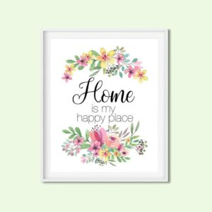 home happy place printable art