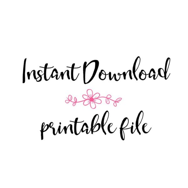 instant download printable