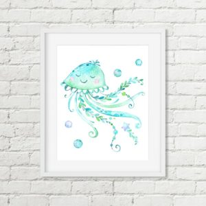 jellyfish printable art