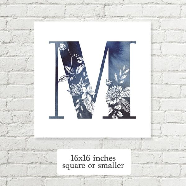 letter sizes inches square