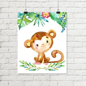 monkey jungle printable art