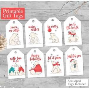 polar bear tags printable