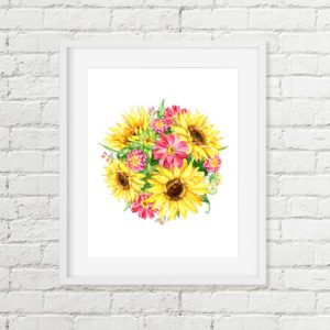 sunflower printable art