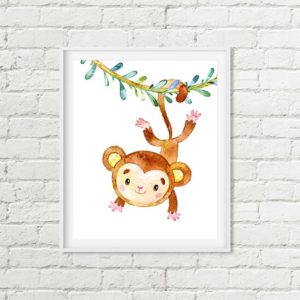 vine monkey printable art