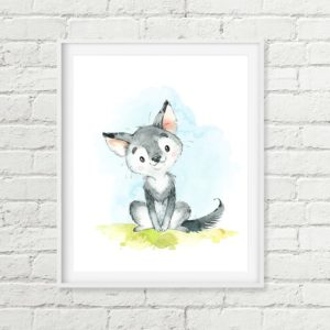 wolf pup printable art
