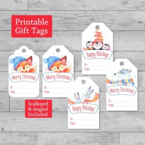fox printable gift tags